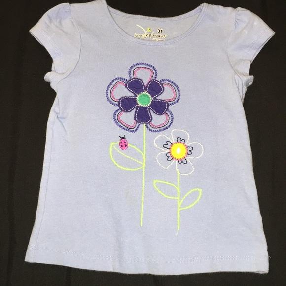 b5f8261a4 jumping beans Shirts & Tops | Flower And Ladybug Tshirt | Poshmark